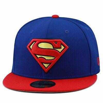 Abile New Era 59fifty Superman Berretto Su Misura Cappello Reale / Rosso / Giallo Dc