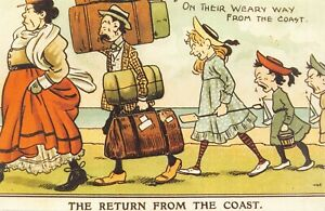 Edwardian-Comic-Reproduction-Postcard-1906-The-Return-from-the-Coast-24N