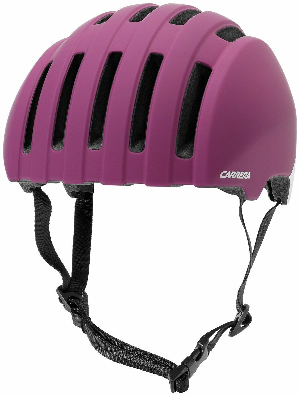 Carrera Precinct Foam Padded 15 Air Vents 55-58cm Helmet - Matte Fuchsia Ivory