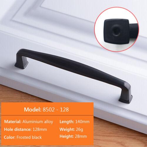 Matte Black Drawer Cabinet Arch Pull Dresser Door Handle Knobs Aluminum Alloy 9