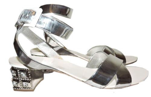Argent Cristaux Chaussure Glissière Plates Mules Cuir Prada Sandales Miu  CA4nFqaf5 4166ba373b3