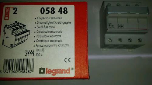 Legrand 05848 Sostenedor del fusible portador 10X38MM 4 polos