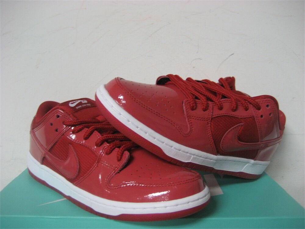nike sb dunk low rote patent jordan 11 4 ruby red white sz 4 11 304292-616 872862