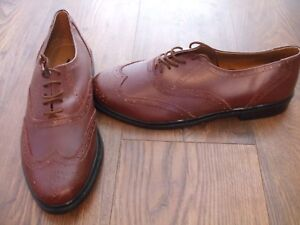 Brown Shoes James Leather Clifford Mens Real 11 Bnwob Size Brogues 0Wnz746