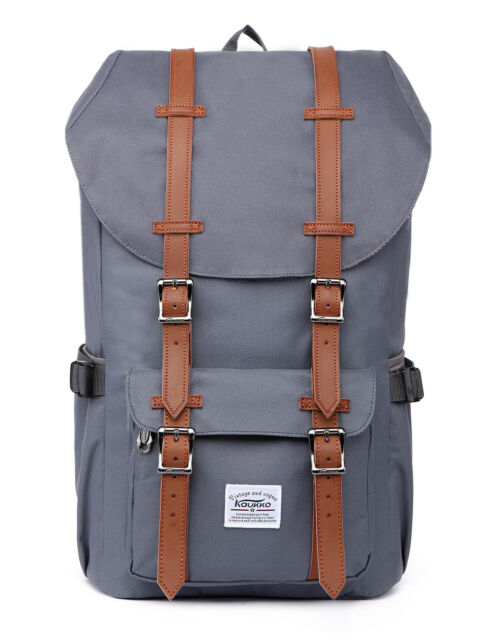 60d4e9a1deb Kaukko Feature of 2 Side Pockets Outdoor Travel Hiking Backpack Laptop Schoo