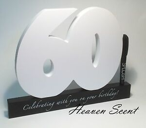 Image Is Loading Happy 60th Birthday Gifts Wooden Signature Number Great