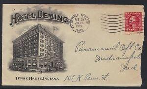 Ee. Uu. 1924 Avanzado. Hotel Deming Cvr Terre Haute Ind. A Indianapolis