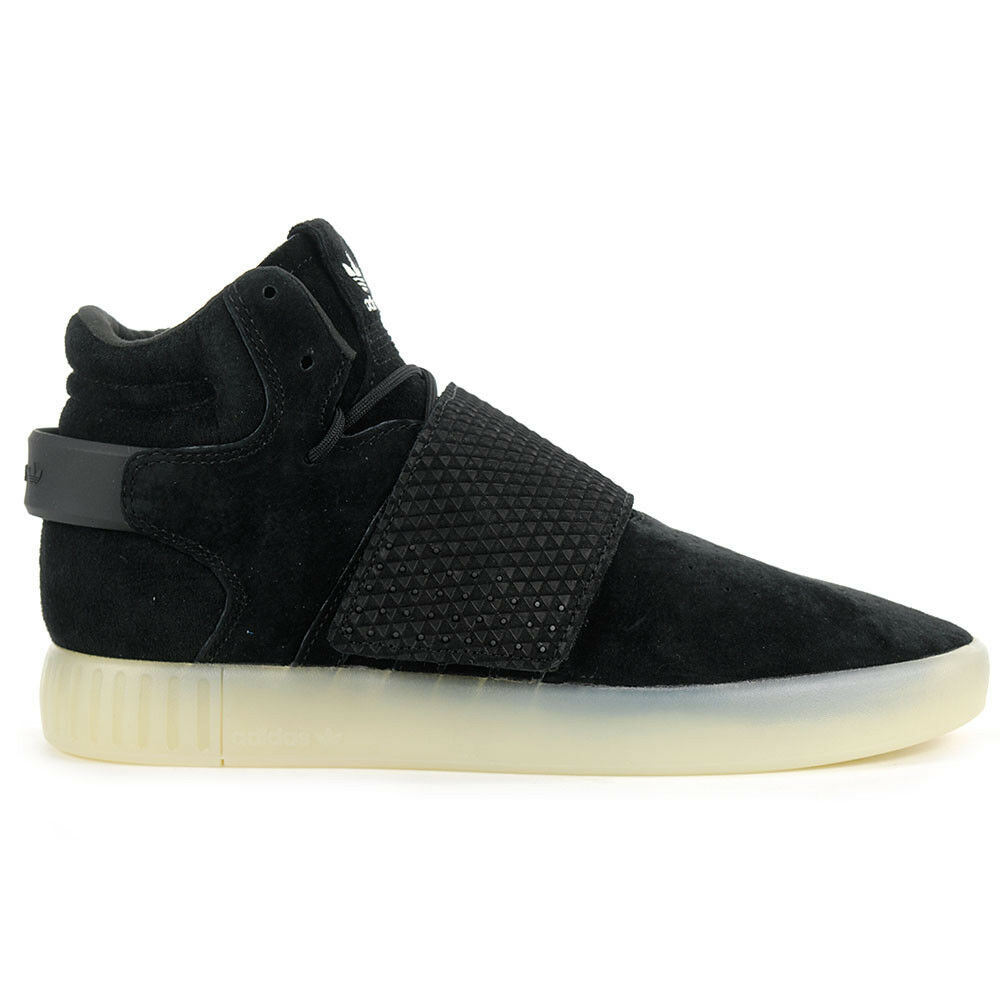 Adidas Men's Tubular Invader Strap NEW! Black/Black Suede Shoes BB5037 NEW! Strap 13c747