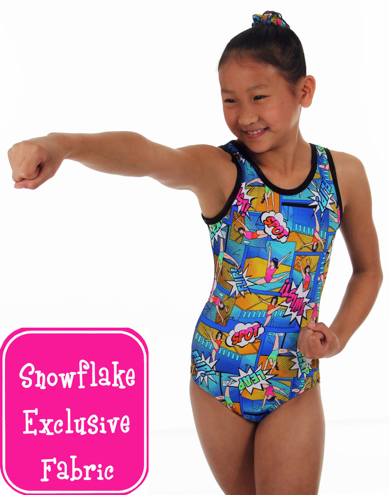 NEW  Heroic Gymnastics Leotard by Snowflake Designs