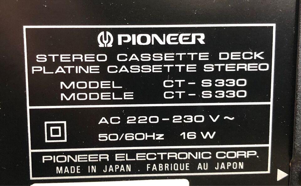 Båndoptager, Pioneer, CT-S330