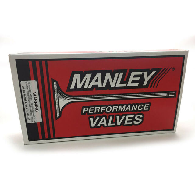 Manley SBC Chevy 1.600 Stainless Street Flo Exhaust Valves 5.065 x .3415 10745-8