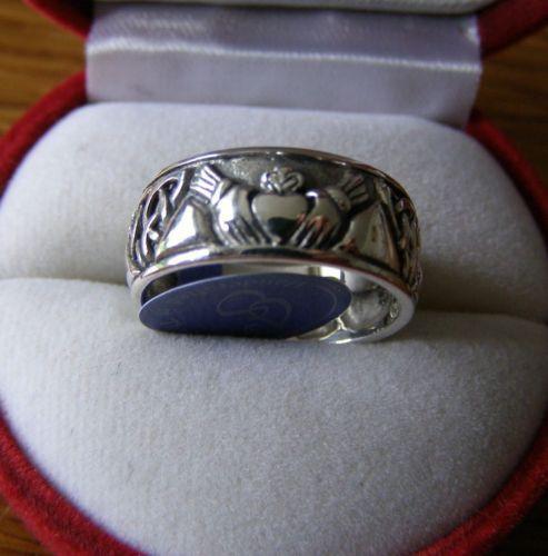 Irisch Claddagh Hochzeit Ring  Sterlingsilver Keltischer von Peter Stone