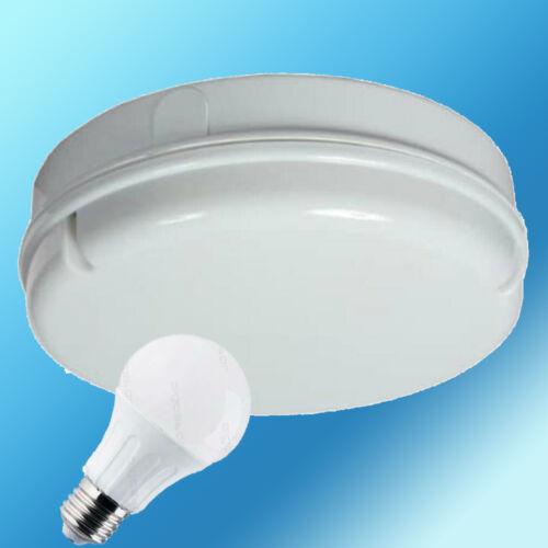 NEW LED Round Bulkhead 12W = 100W E27 Ceiling Drum Light Fitting Mains 6500K