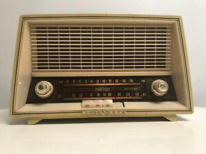 Fonovox-Loewe-Opta-Tube-Radio-05708W-Made-in-Germany-Atomic-Mid-Century