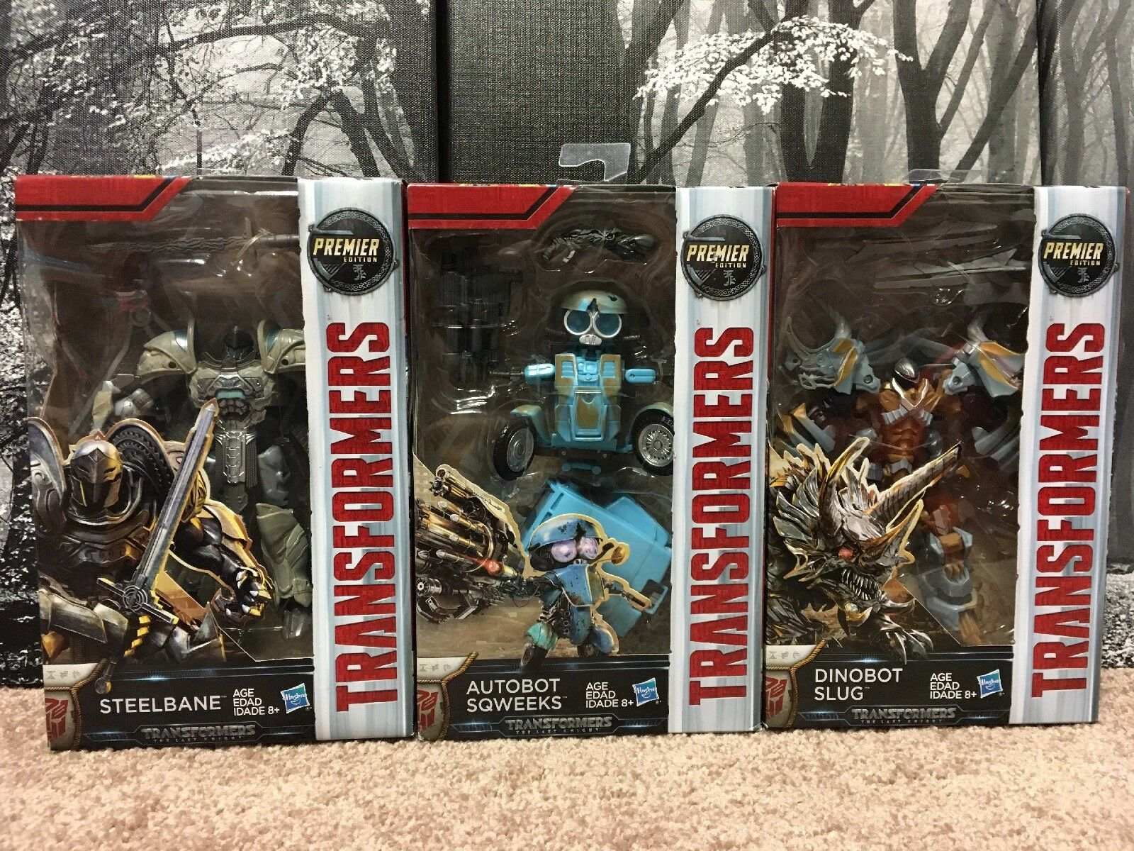 Transformers The Last Knight Deluxe Premier Edition 3- Lot Action Figures NIB