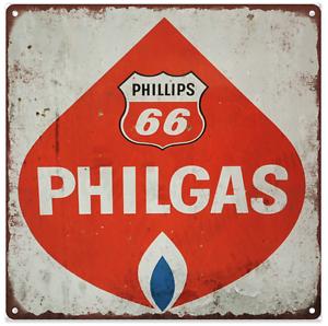 Philip 66 Philgas Vintage Look Advertising Metal Reproduction Sign 12x12 60103