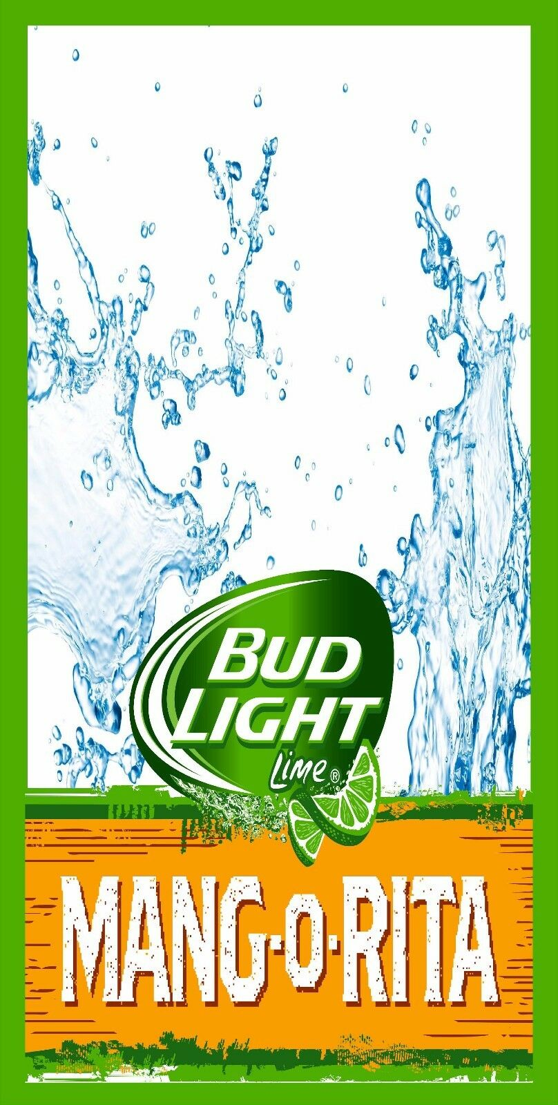 Bud  Light LIME Marg O Rita Cornhole Board Game Wrap Decal Set 24 x48   a lot of concessions