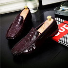 2017 New Men's Driving Casual Boat Shoes Leather Shoes Moccasin Slip On Loafers