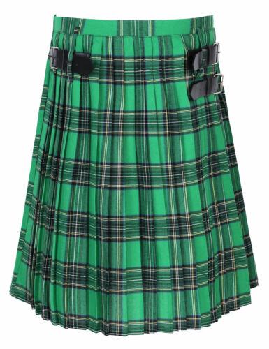 Men Kilt Belt Scotland Scottish Traditional National Skirt Plaid Casual Tartan