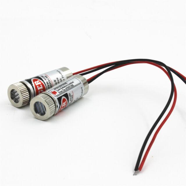 New 650nm 5mW Red Laser Line Module Focus Adjustable Laser Head 5V
