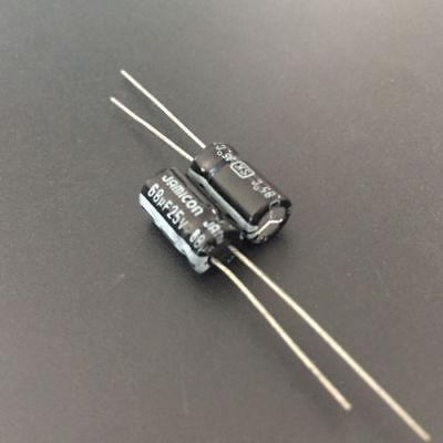 50pcs 68uF 25V 6.3x12mm Jamicon SK 25V68uF Electrolytic capacitor