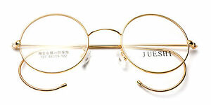 fdded2b5e4 Image is loading Vintage-Cable-Temple-Round-Eyeglass-Frames-Spectacles-Rx-