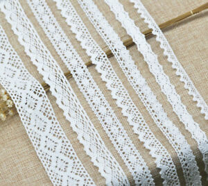 5-Yards-Beautiful-White-Cotton-Lace-Trim-Ribbon-Crochet-DIY-Craft-Sewing-Fabric