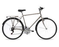 Kingston Sloane, Mens Traditional Bike, City Bicycle, 18 Speed, Titanium Grey
