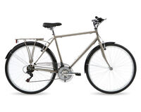 Kingston Sloane, Mens Traditional Bike, City Bicycle, 18 Speed, Titanium Grey