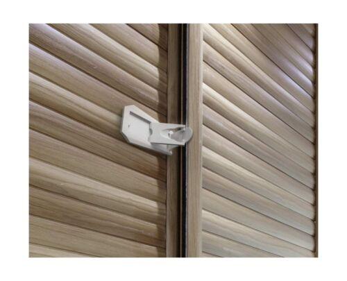 2 Pack Sure Basics SB22 Sliding Door Lock Grey//White