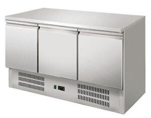 Tavolo refrigerato frigorifero saladette 3 Porte Banco frigo Inox ...