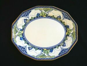 Beautiful-Royal-Doulton-Art-Deco-Merryweather-Small-Oval-Platter