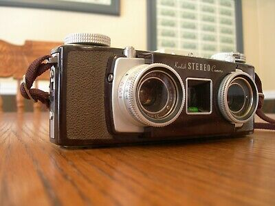 Kodak Stereo Camera 35mm F 3 5 Stereoscopic Film Leather Case Great Cond Ebay