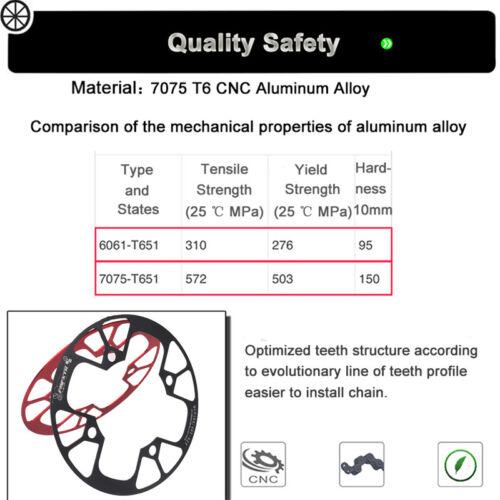 Aluminum Chainring Guard 104BCD 32-42T MTB Bike Crankset Sprockets Chainwheel