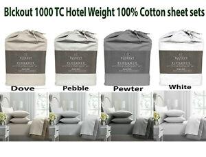 Blckout 1000 TC Hotel Weight 100% Cotton Sheet Sets