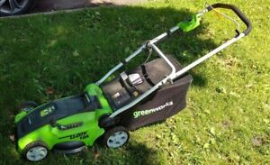 Details about Used!! Not Working- For Parts- Greenworks 16-Inch 10 Amp  Corded Lawn Mower 2514