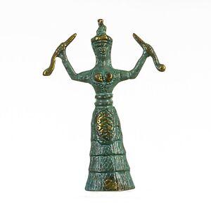 Ariadne-Minoan-Snake-Serpent-Goddess-Museum-Replica-Knossos-Handmade-Bronz-5-12-034