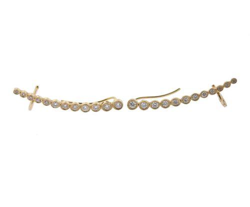 Anne Sisteron 14k Yellow Gold Diamond Earrings Ear