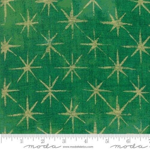 Moda Grunge Seeing Stars by Basic Grey 30148 45M Green Metallic COTTON