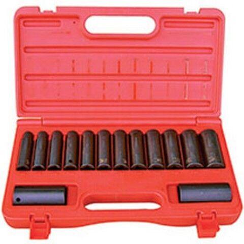 "1//2/"" Drive 6 Point Metric Deep Impact Socket Set ATD-4301 Brand New! 14 Pc"