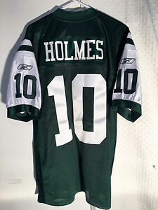 cheaper 38bb8 75ed9 Details about Reebok Authentic NFL Jersey New York Jets Santonio Holmes  Green sz 56