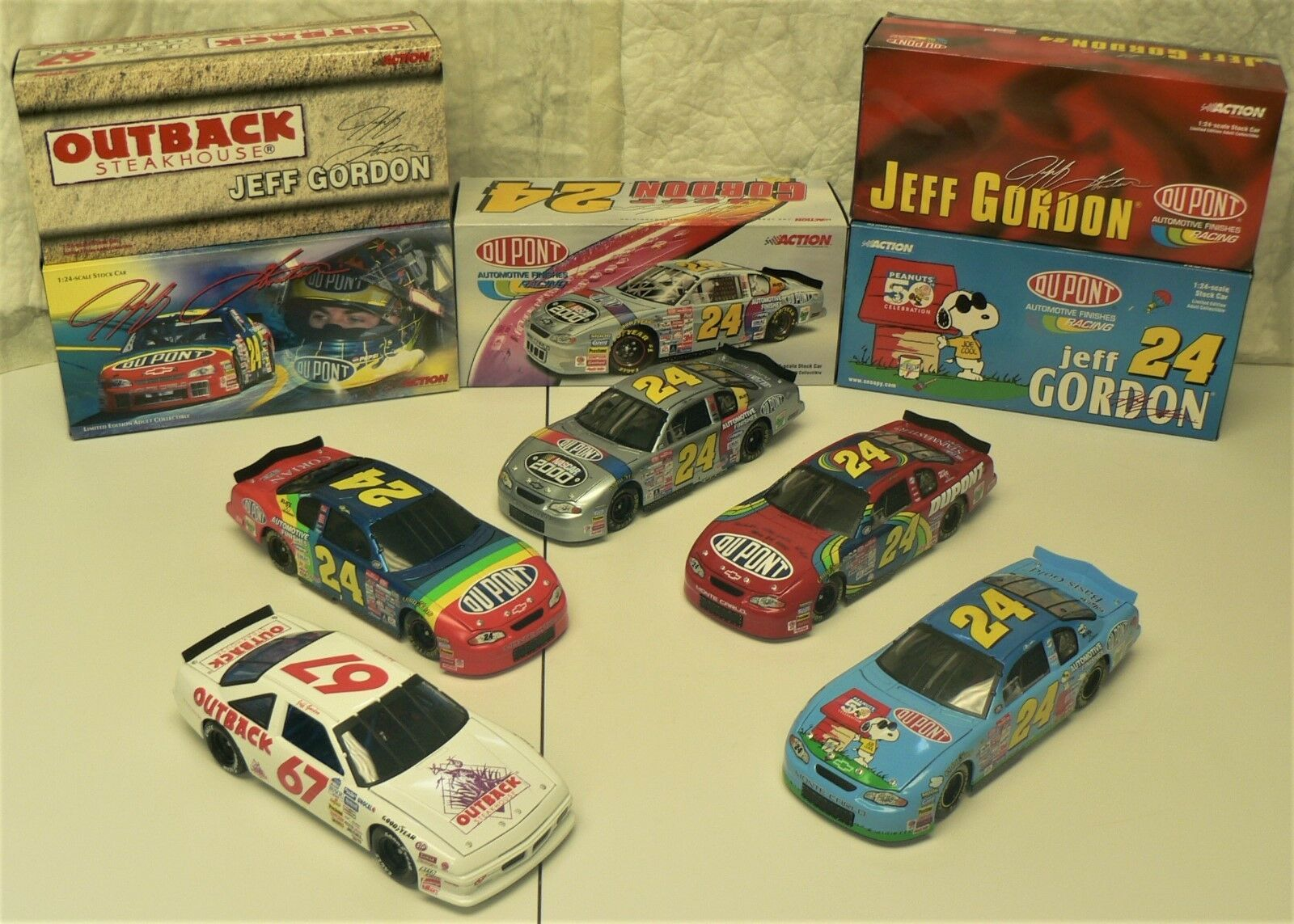 NASCAR - JEFF GORDON - Lot of 5 (2000) Limited Collectable Cars by ACTION Racing