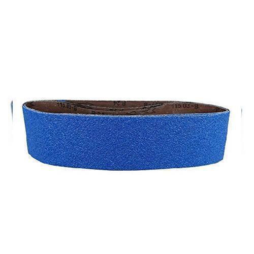 """POWERTEC 443606Z-3 4"""" x 36"""" Sanding Belts 60 Grit Zirconia Metal 60"""
