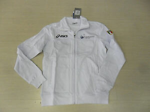 0673-Fipav-Taille-L-Asics-Veste-Sweat-Shirt-Volley-Ball-Femme-Lady-Veste-Manteau
