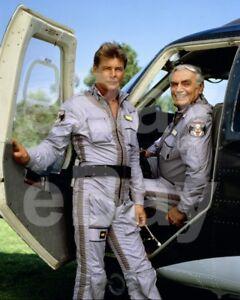 Airwolf-TV-Jan-Michael-Vincent-Ernest-Borgnine-10x8-Photo
