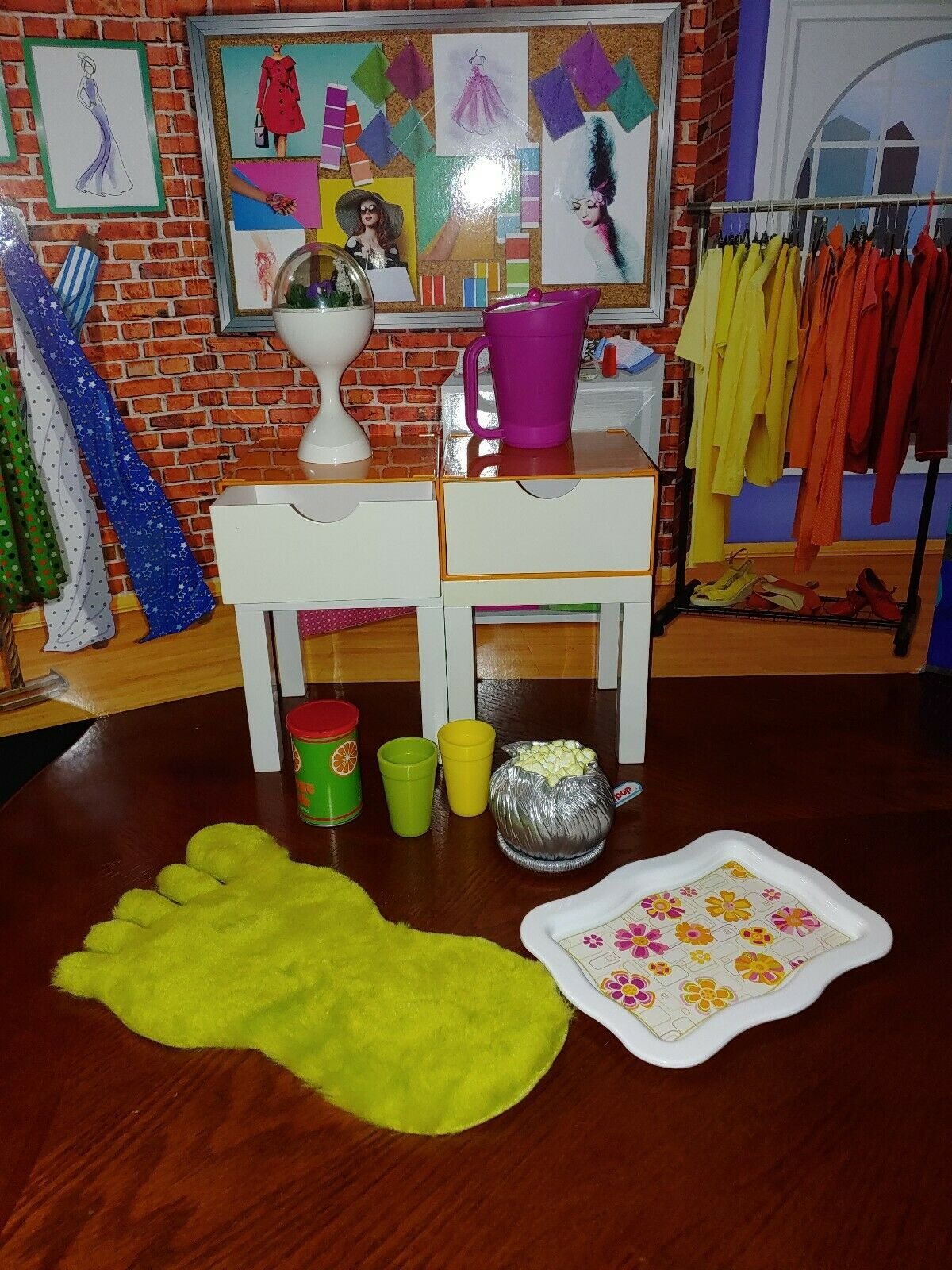 American Girl JULIE'S BEDROOM Accessories - Gently Used EUC