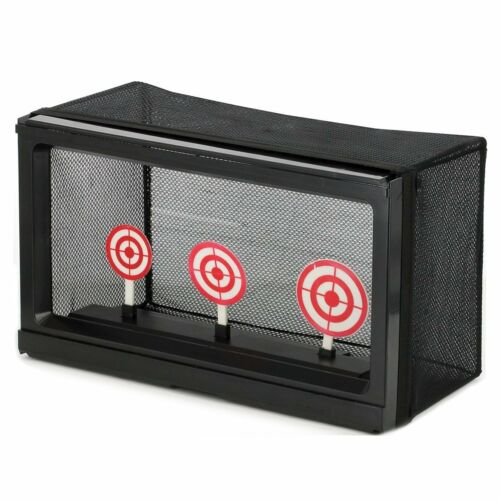 AirSoft Auto Reset Target Trap BB Pellet Shooting Removable Mesh Range 3 Circle