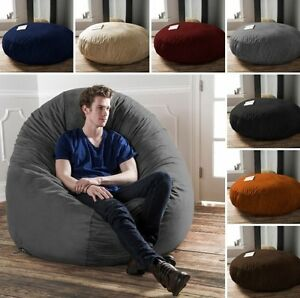 Image Is Loading Durable Microsuede 6 Ft Bean Bag Chair