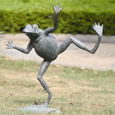 "Large 23"" H  HAPPY FROG  Spitter Garden  Statue"