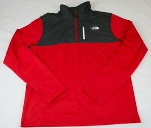 MENS-THE-NORTH-FACE-CINDER-1-4-ZIP-ATHLETIC-PULLOVER-TOP-RED-NWT-FAST-SHIP